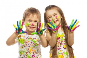 dziecko pace farba